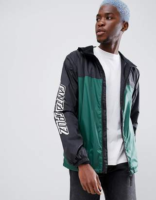 Santa Cruz Team Jacket With Sleeve Print In Black
