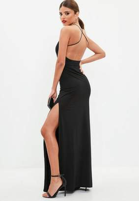 Missguided Black Slinky Maxi Dress