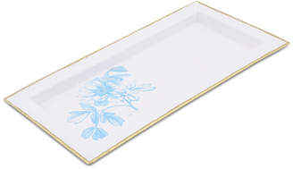 Thirstystone Closeout! White Enamel Tray with Peony Design