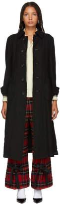 Comme des Garcons Black Viyella Wool Coat