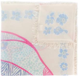 Hemisphere cashmere elephant print scarf