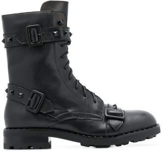 Ash buckled details boots