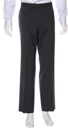 HUGO BOSS Boss by Wool Flat Front Dress Pants