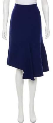 Marni Ruffle-Trimmed Midi Skirt Blue Ruffle-Trimmed Midi Skirt