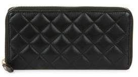 Lord & Taylor Quilted Zip-Around Wallet