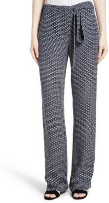 Women's Theory Brilda Geo Print Silk Pants $355 thestylecure.com