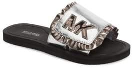MICHAEL Michael Kors Eli Jack Metallic Slide Sandal