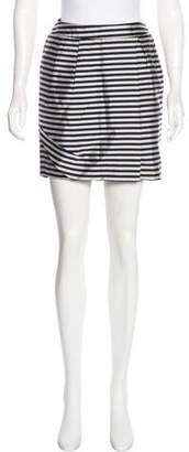 Reiss Striped Mini Skirt