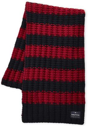 Nautica Striped Chunky Knit Scarf