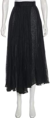 Donna Karan Pleated Midi Skirt
