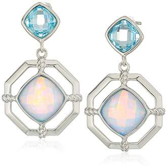 Judith Jack Sterling Silver and Opal Post Drop Earrings