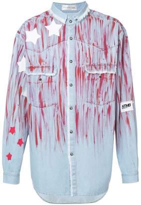 Faith Connexion star paint smudged denim shirt