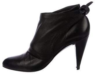 Sigerson Morrison Leather Round-Toe Booties