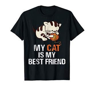 My Cat Is My Best Friend Funny Cat Lovers Gift T-Shirt