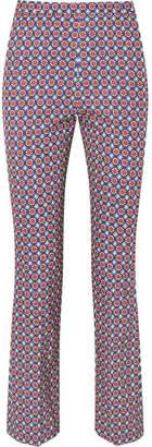Prada - Printed Twill Skinny Pants - Blue