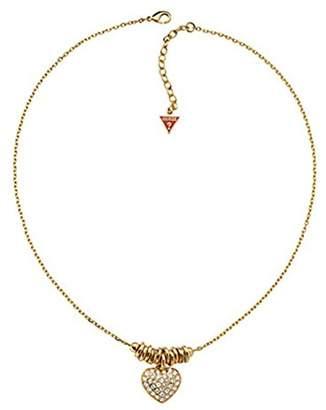 GUESS UBN11315 Women's Gold Metal Heart Necklace 45 cm