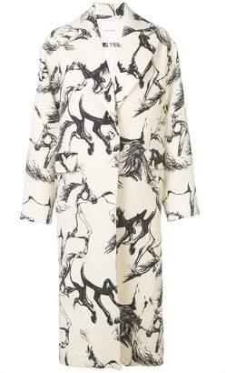 ADAM by Adam Lippes Pony print midi coat