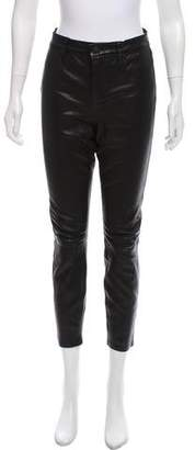 L'Agence Mid-Rise Leather Pants