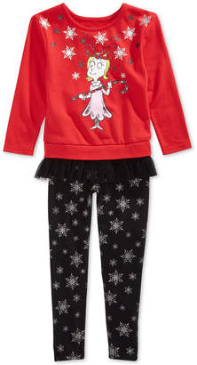 Hybrid Little Girls 2-Pc. Grinch Sweatshirt & Leggings Set
