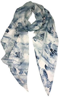 Laundry by Shelli Segal Floral Silk Scarf