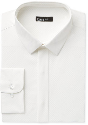 Bar III Men's Slim-Fit White Dot-Print Dress Shirt, Only at Macy's $65 thestylecure.com