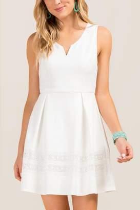 francesca's Sailor Sleeveless A-Line Dress - Ivory
