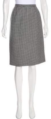 Nina Ricci Wool Check Skirt