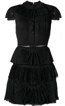 Alice + Olivia Alice+Olivia Rosetta pleated short dress