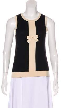 John Galliano Bow-Accented Knit Top