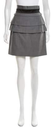 Temperley London Wool Ruffle-Trimmed Skirt