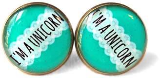 Factory Snark Mint Green I'm a Unicorn Stud Earrings