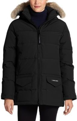 Canada Goose Fur-Trimmed Down-Filled Solaris Puffer Jacket $850 thestylecure.com