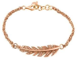 Carolina Bucci 18K Diamond Feather Bracelet