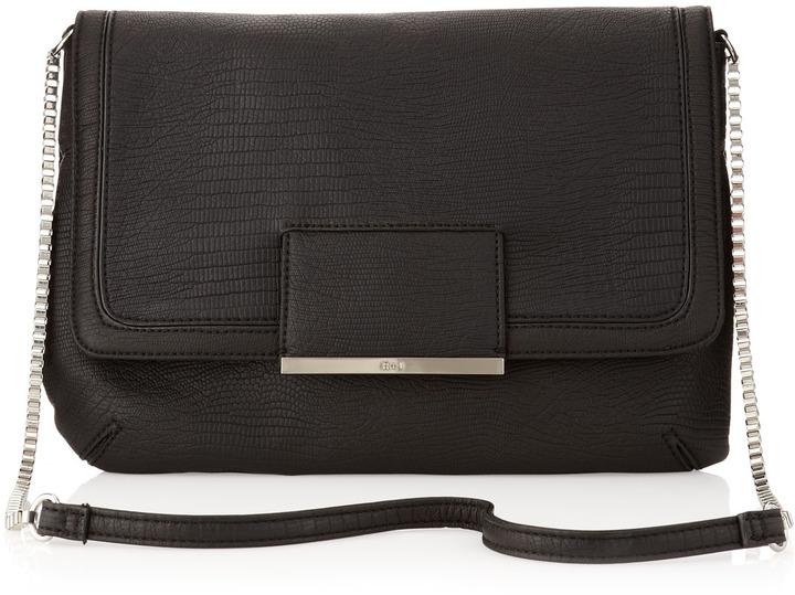 Romeo & Juliet Couture R&J Handbags by Jasmina Flap Chain Shoulder Bag, Black