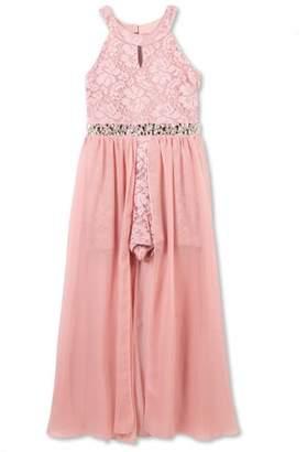 Lots of Love by Speechless 7-16 Jewel Waist Walk-Thru Long Occasion Dress (Big Girls)