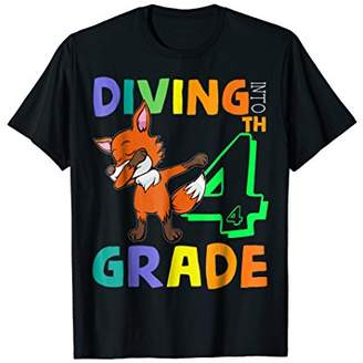 Team 4th Grade Fox Dabbing Back To School Shirt For Kid