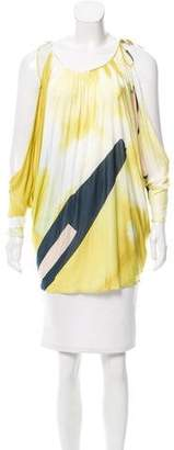 Emilio Pucci Abstract Print Cold-Shoulder Top