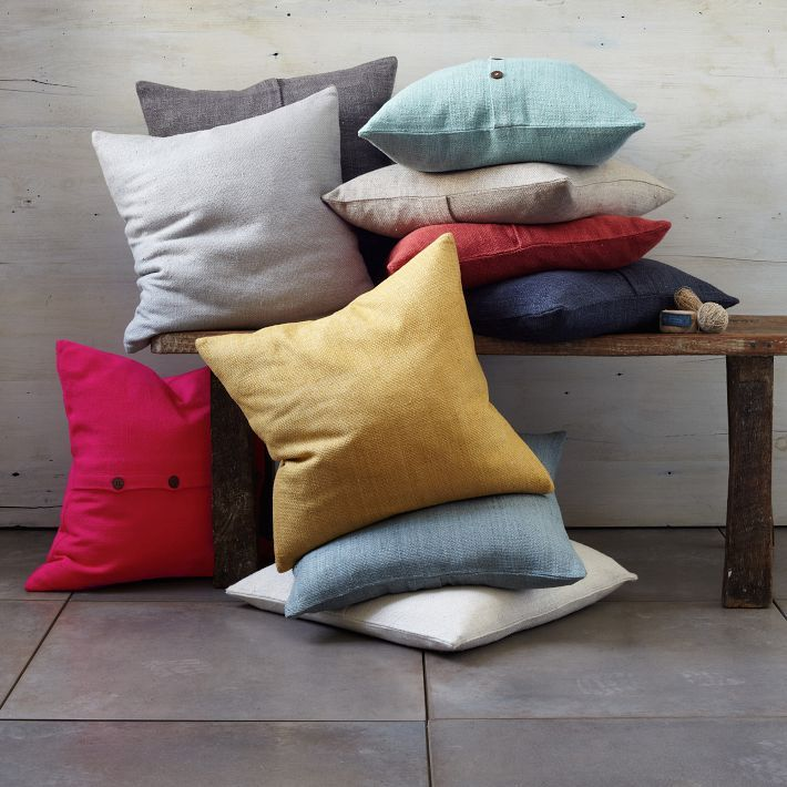 west elm Solid Silk Hand Loomed Pillow Cover