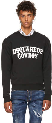 DSQUARED2 Black Cowboy Sweatshirt