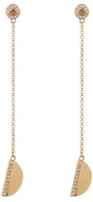 Cole Haan Pave Crystal Half-Circle Chain Drop Earrings