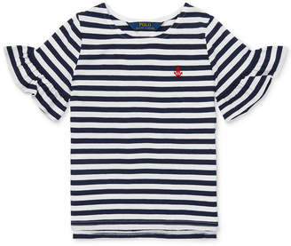 7a1985aeb Polo Ralph Lauren Toddler Girls Ruffle-Sleeve Striped Cotton Top