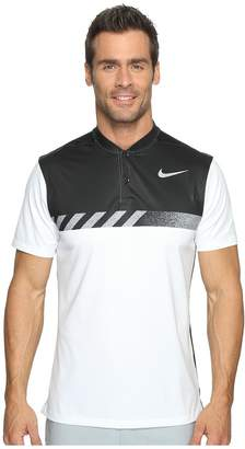 Nike MM Fly Short Sleeve Print Polo Men's Short Sleeve Pullover