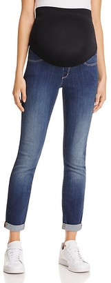 NYDJ Annabelle Cropped Skinny Maternity Jeans $168 thestylecure.com
