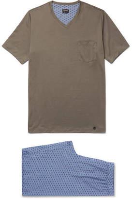 Hanro Harvey Cotton-Jersey Pyjama Set - Men - Gray