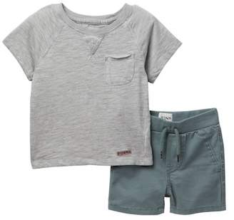 Hudson Cottom Slub Jersey Tee & Shorts (Baby Boys)