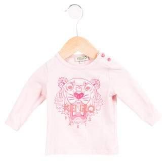 Kenzo Girls' Logo Print Long Sleeve T-Shirt