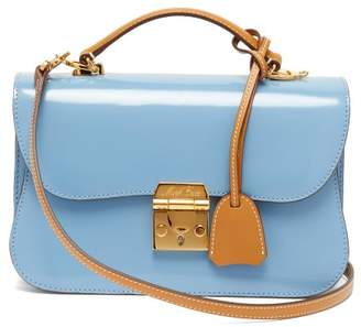 Mark Cross Dorothy Smooth Leather Shoulder Bag - Womens - Blue Multi