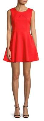 Molly Bracken Pleated Fit-And-Flare Dress