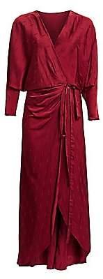 Johanna Ortiz Women's Eterna Espiritualida Satin V-Neck Wrap Dress
