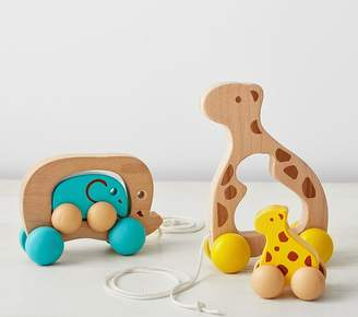 Pottery Barn Kids Wooden Pull Toy - Giraffe